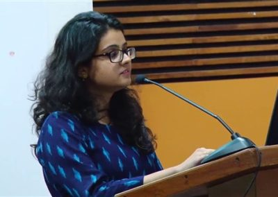 14 Aishna Sharma presenting paper in the Technical Session III