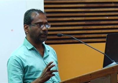 26. Dr. C Krishnan presenting paper in the Technical Session VII