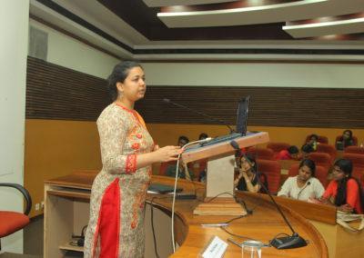 Akanksha Jumde presenting paper in the Technical Sesson II