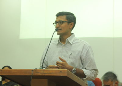 Dr. Manu .V. Mathai as speaker in the Technical Session I