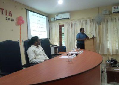 Lecture by Dr. Vinoj Abraham
