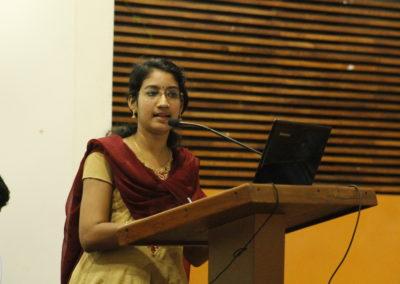 Reshma Rajeevan presenting paper
