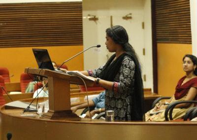 Aparna R Menon presenting paper in the Technical Session VI