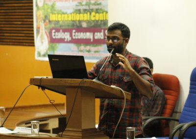Deepchand presenting paper in the Technical Session VII