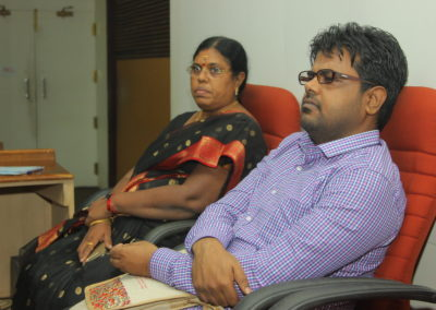Dr. Chinnamai and Dr. Saratchand presenting papers in Technical Session II