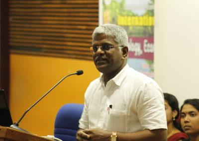 Dr.Venkatachalam as speaker in the techncial session IX