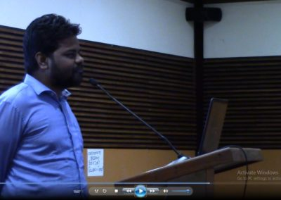 Dr. Saratchand presenting paper in the Technical Session  V