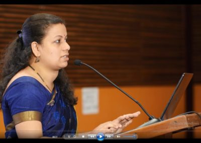 Anuradha Pai presenting paper in the Technical Session III