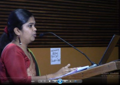 Gayatri Somasekharan presenting paper in the Technical Session III