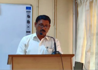 Theme Presentation by Prof. Abdul Salim A