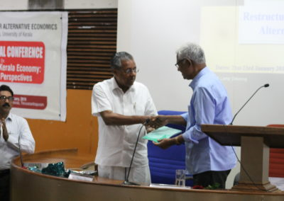 Handovering Conference abstract to Prof. Mahadevan Pillai