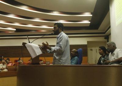 Shanu Nazar presenting paper in the Technical Session VI