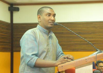 Vote of Thanks by Siddik Rabiyath at the Inaugural Session