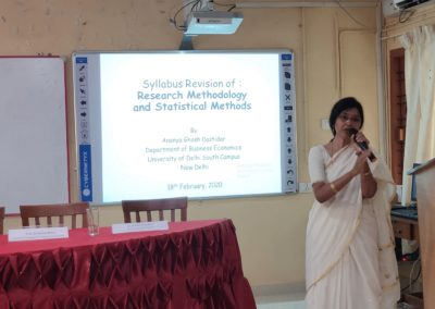 Dr. Ananya G. Dastidar as subject expert of Research Methodology & Statistical Methods
