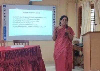 Dr. Indrani Roy Chowdhury as subject Expert of Microeconomics I & II & Environmental Economics &
